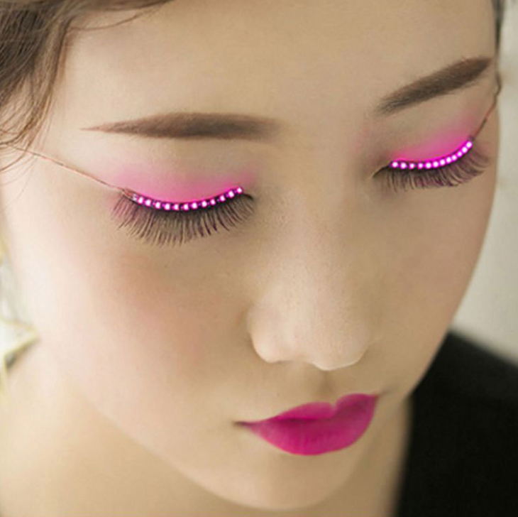 2017 Party Shining Charming Led Glowing Eyelashes 12 Modes Unisex