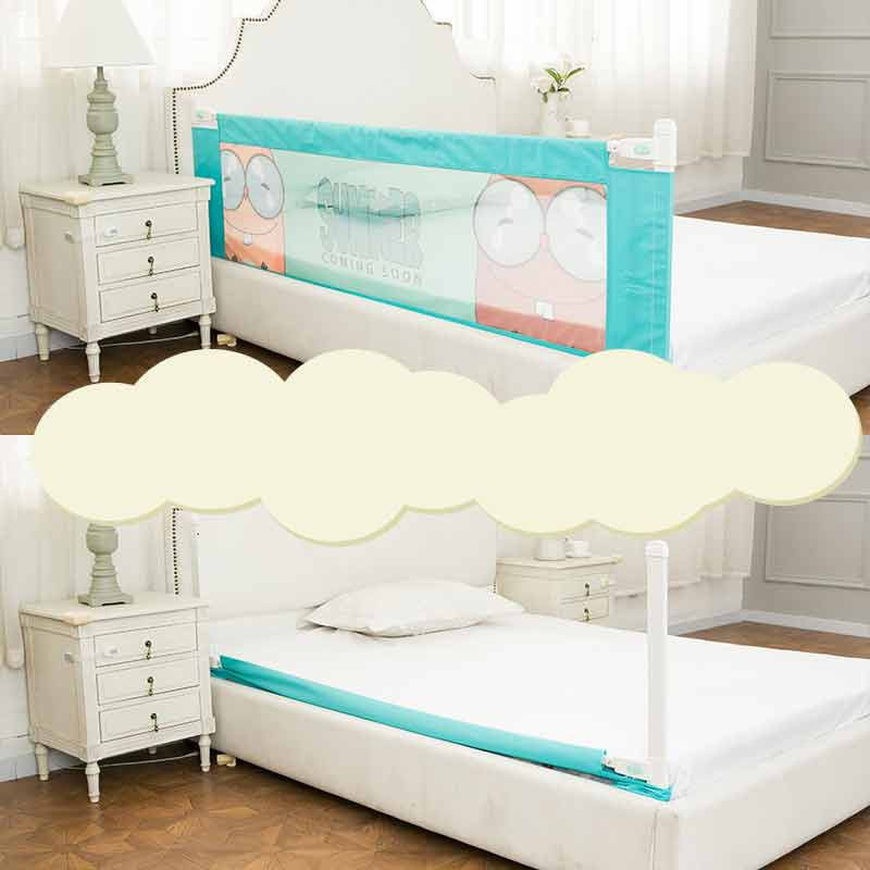 aby bed rail children extra long bed guard toddler safety fold down bedrail potable stop falling. Black Bedroom Furniture Sets. Home Design Ideas